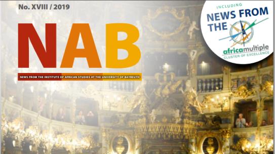 ACTUALITÉS DE L'INSTITUT D'ÉTUDES AFRICAINES DE BAYREUTH: NAB 2019