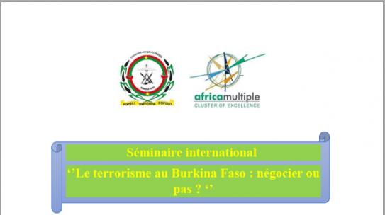 Séminaire international sur le terrorisme au Burkina Faso: Appel à communication
